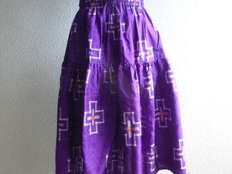 紬リメイクティアードスカートの画像