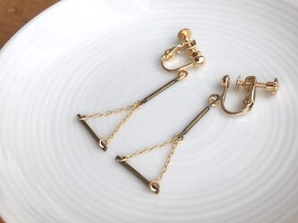 gold earring/pierceの画像
