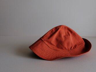 ◆ sale ◆ テントな帽子 - コットンナイロン レンガオレンジ -の画像
