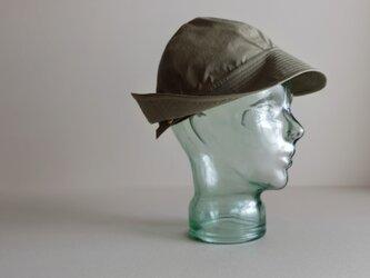 ◆ sale ◆ テントな帽子 - コットンナイロン・リップストップ オリーブグレー -の画像