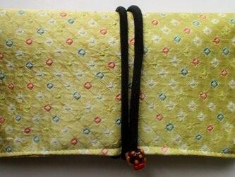 絞りの羽織で作った和風財布・ポーチ 3787の画像