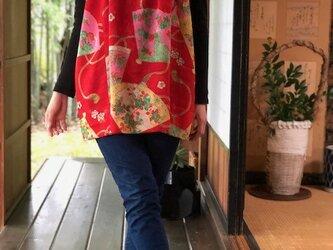 子供着物から重ね着秋のキャミソール Mの画像