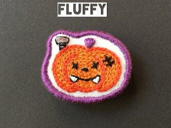 ハロウィンかぼちゃのおばけブローチの画像