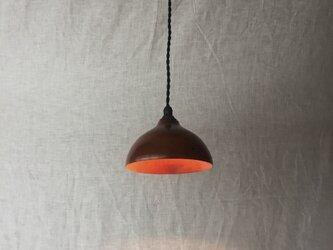 木と漆のランプ 柿 (kk5)の画像