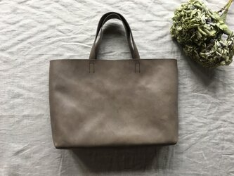 『 霞 - soft 』革袋 grey brown M2の画像