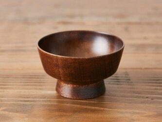 ろくろ挽きの飯椀(ミズメザクラ|拭き漆)の画像