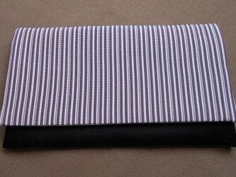 リメイク*懐紙入れ*紫変わり縞の画像
