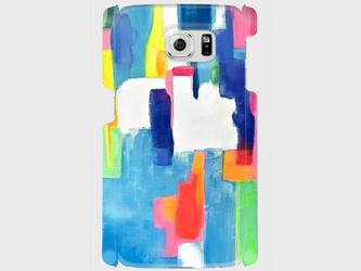 """アートペイント """"虹のはじまり""""  Galaxy S8等 大サイズスマホ対応 ハードケース 抽象画の画像"""