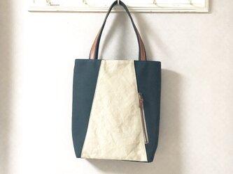 「Michi  bag」*トートバッグ*〈深緑〉の画像