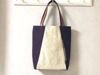 「Michi  bag」*トートバッグ*〈 紫色〉の画像