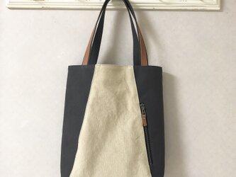 「Michi  bag」*トートバッグ*〈 灰色〉の画像