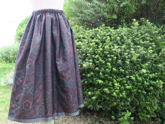 大島紬 リバーシブル スカート 訳あり値段を下げましたの画像