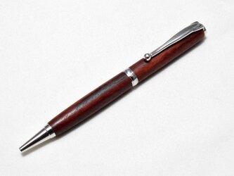 [再出品]【紅木】手作り木製ボールペン スリムライン CROSS替芯の画像