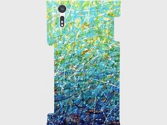 """アートペイント """"夏のヒカリ""""  Galaxy S8等 大サイズスマホ対応 ハードケース 抽象画の画像"""