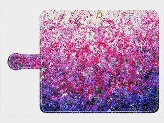 """アートペイント """"春の光"""" アンドロイドLサイズ専用 手帳型ケース 抽象画の画像"""