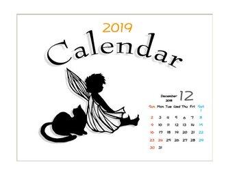 2019年度 卓上切り絵カレンダーの画像