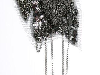 アートピース ハートチェーン(ガンメタリック)の画像