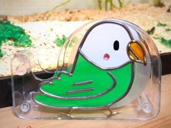 ミニテープカッター(インコ 黄緑)の画像