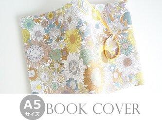 リバティ A5ブックカバー スモールスザンナ イエローブラウンの画像