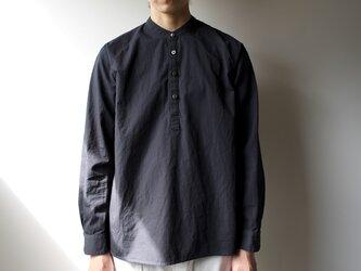 weather cloth/raglan shirt//navyの画像