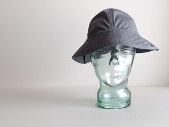 ◆ sale ◆ テントな帽子 - コットンエラスティック ブルーグレー -の画像