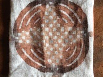 柿渋染めコースター  カンパーニュの画像