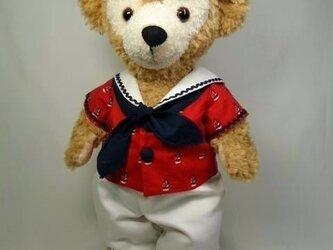 ダッフィーお洋服 マリンセット(赤)の画像