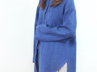 ユニセックス・ノの字インディゴ染めジャケットの画像
