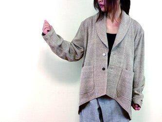 ユニセックス・ヘチマ襟ジャケットの画像
