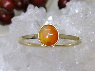 fire opal*K10 ringの画像