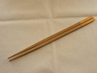 贈る箸 なら×ゴールド 24cmの画像