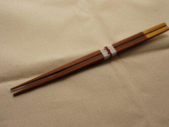 贈る箸 ココボロ×ゴールド 24cmの画像