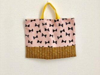 【sale】りぼんかごのレッスンバッグ(ピンク)の画像