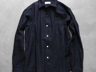ウォッシャブルウールシャツBK[ユニセックス size3]の画像