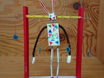 うさぎの操り人形の画像