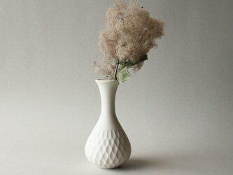 花器 しのぎ クリームホワイト aの画像