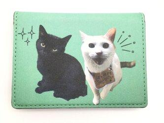 オーダーメイド 薄型 カード 定期入れ パスケース うちの子 ポケット うちの子 メンズ  猫 犬 ペット メモリアルの画像