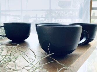 スープマグカップ チャコール線刻の画像