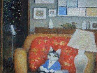 白いランプ・深夜読書の画像