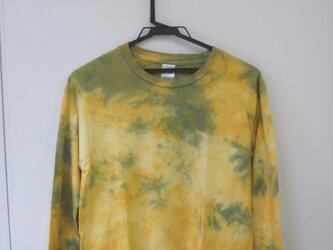 タイダイ染め まだら模様の長袖Tシャツ⑤の画像