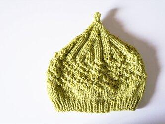 〇送料無料〇 どんぐりニット帽子新作 レモンイエローグリーンの画像