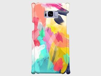 """アートペイント """"なないろ""""  Galaxy S8等 大サイズスマホ対応 ハードケース の画像"""