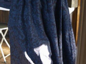 結城紬反物からワンピースの画像