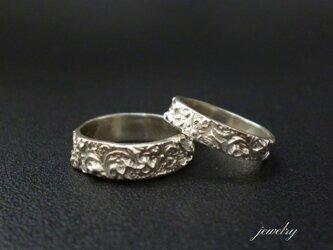 Marie set of rings ペアリング - 3mm/5mm 【受注後制作品】の画像