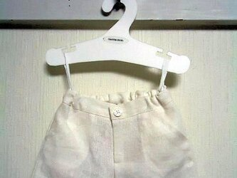 ダッフィーお洋服 パンツ(麻白)の画像