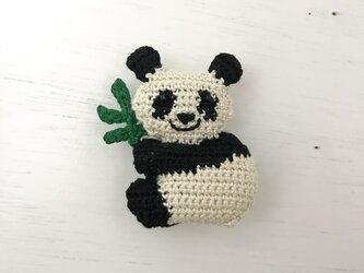 どうぶつブローチ - パンダ w/笹の画像