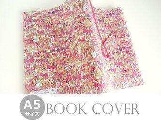 リバティ A5ブックカバー ジェニーズリボンズ ピンクの画像