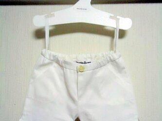 ダッフィーお洋服 パンツ(綿白)の画像
