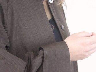 ラグランスリーブジャケット(シルク100% 黒檀染め)の画像