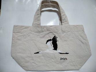 コウノトリのバッグ(送料込み)の画像